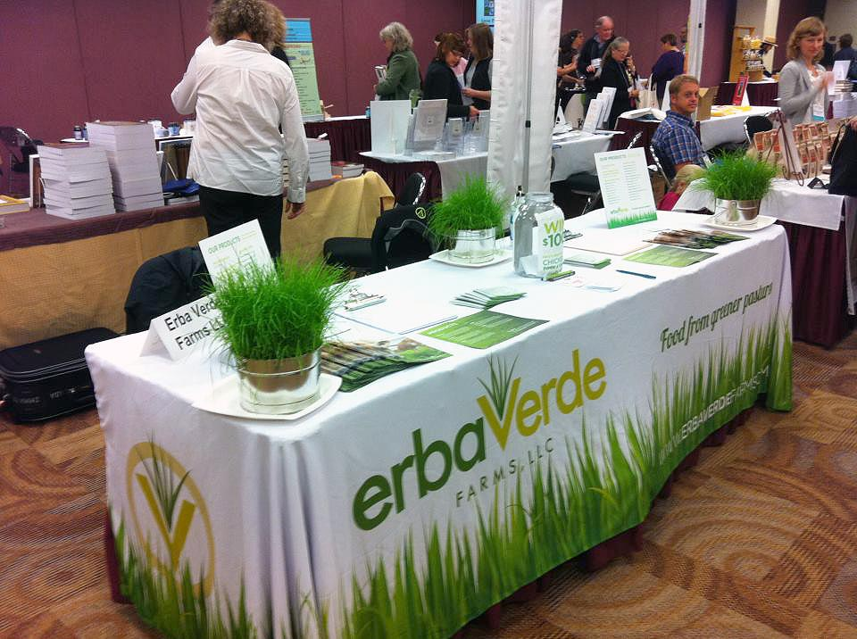 Erba Verde Farms: Table Display