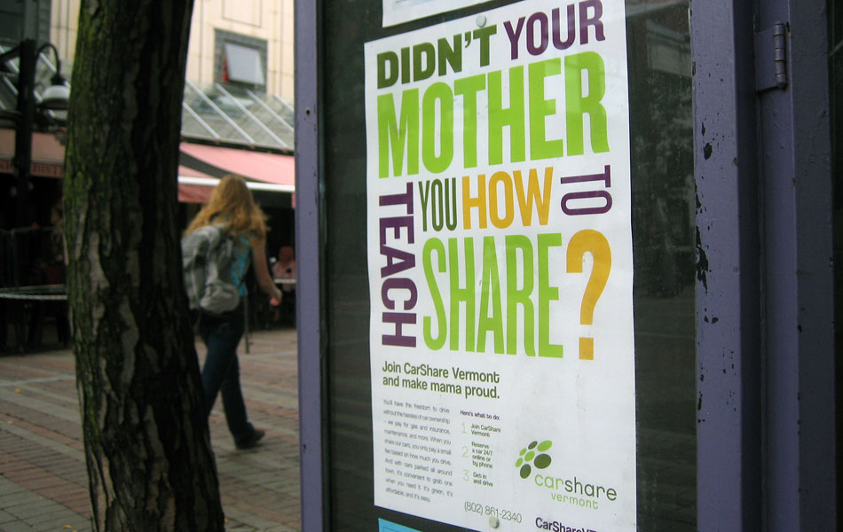 CarShare VT mother poster