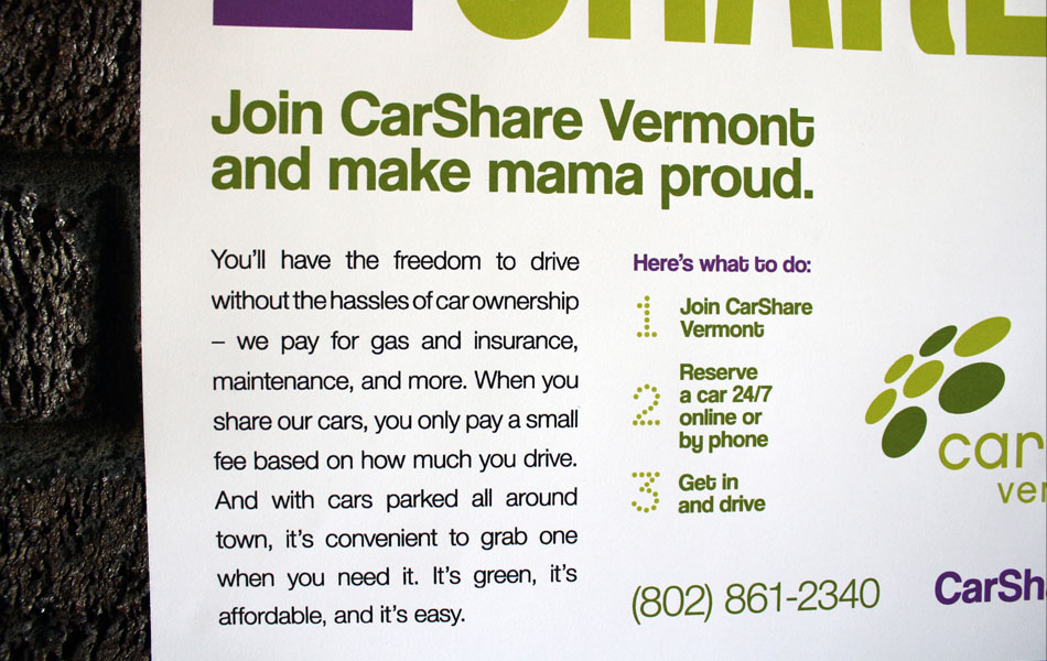 CarShare VT mother poster detail