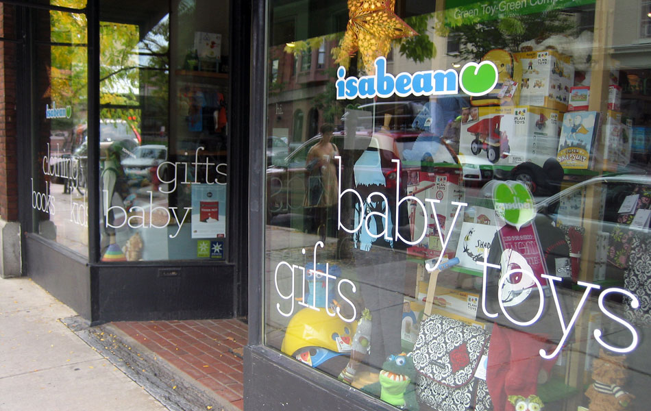 Isabean window signage